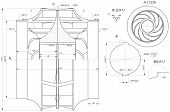 picture of degree  - Sketch of engineering wheel with hatching - JPG
