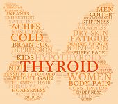 foto of fibromyalgia  - Thyroid butterfly shaped word cloud on an orange background - JPG