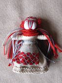 stock photo of adornment  - Ukrainian handmade folk doll - JPG