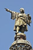 foto of christopher columbus  - Christopher Columbus Day Statue in Barcelona Spain - JPG