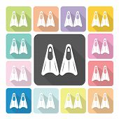 picture of fin  - Fin Icon color set vector illustration  - JPG