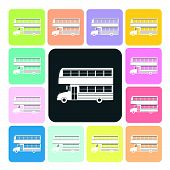 pic of motor-bus  - Bus Icon color set vector illustration  - JPG