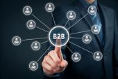 Постер, плакат: Business To Business B2B