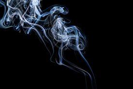 foto of smoke  - Abstract smoke on a black background - JPG