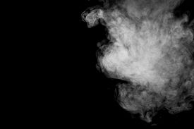 stock photo of steam  - Abstract steam on a black background - JPG