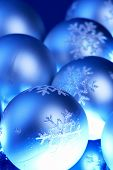 image of christmas theme  - Christmas ornaments with blue shade Christmas theme - JPG