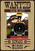 Mini Cowboy Wanted Poster poster