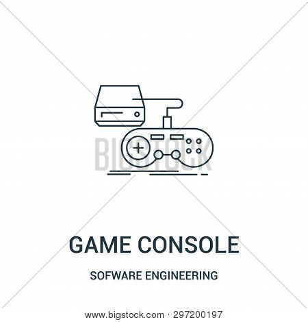 poster of Game Console Icon Isolated On White Background From Sofware Engineering Video Gaming Collection. Gam