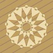 pic of unexplained  - ufo crop circles design in wheat - JPG