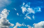 Beautiful Blue Sky With Clouds Background.sky Clouds. Sky With Clouds Weather Nature Cloud Blue. poster