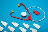 Baby Heart Health, Cardiology And Stethoscope. Safety, Disease. poster