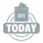 Vote Today Logo. Simple Illustration Of Vote Today Logo For Web poster