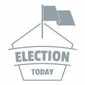 Election Today Logo. Simple Illustration Of Election Today Logo For Web poster