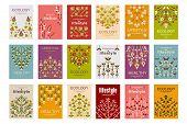 Ecology Cards Set, Ecological Templates For Poster, Banner, Flyer, Invitation, Brochure Vector Illus poster