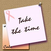 pink ribbon reminder poster