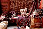 stock photo of goreme  - Carpet bazaar in Goreme - JPG