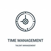 Time Management Icon Isolated On White Background From Talent Management Collection. Time Management poster