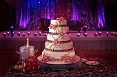stock photo of life events  - Image of a beautiful wedding cake at wedding reception - JPG