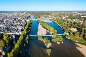 Tours Aerial Panoramic View. Tours Is A City In The Loire Valley Of France poster