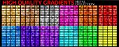 Vector Set Of Colorful Gradients. Big Collection Colorful Metallic Gradients Consisting  Backgrounds poster