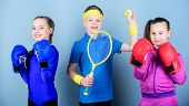 Sporty Siblings. Ways To Help Kids Find Sport They Enjoy. Friends Ready For Sport Training. Child Mi poster