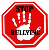 Stop Bullying School Aggression Abuse Violence Victim Illustration poster