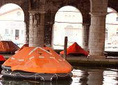 foto of arsenal  - Photo of Buoy floating in the Venice arsenal - JPG