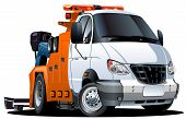 stock photo of towing  - Vector cartoon tow truck - JPG
