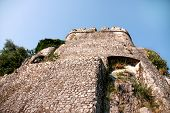 Famous Sea Fortress (forte Mare) In Popular Resort Town Herceg Novi, Montenegro. Old Fortress Forte  poster