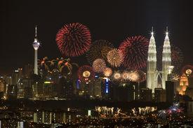 picture of kuala lumpur skyline  - night view of Kuala Lumpur city Malaysia - JPG