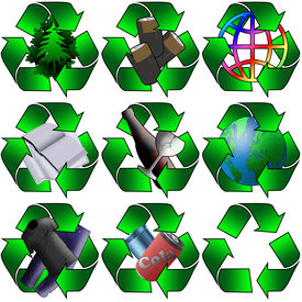 foto of environmentally friendly  - Various recycling images for use in your environmentally friendly project - JPG