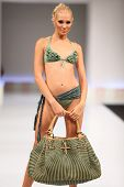 MOSCOW - SEP 7: Agogoa swimwear collection by Jerry Tommolini at forum of producers underwear and sw