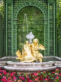 image of munich residence  - An image of a fountain at castle linderhof in bavaria germany - JPG