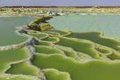 stock photo of ethiopia  - Dallol Volcano Danakil depression Ethiopia - JPG