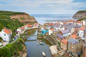 Staithes Yorkshire England Uk