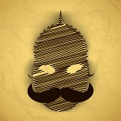 picture of ravana  - Indian festival Happy Dussehra background with illustration of Ravana face - JPG