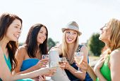 foto of champagne glasses  - summer holidays and vacation  - JPG