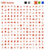 picture of funeral home  - 196 vector icons covering various areas like communications - JPG