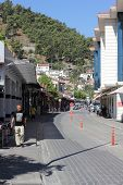 A street scene at Fethiye in Turkey