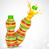 pic of fruit shake  - illustration of juice bottle made of fresh fruit - JPG