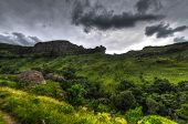 pic of natal  - Dramatic view of the hills of the Drakensberg Range in the Giants Castle Game Reserve KwaZulu - JPG