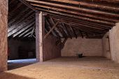 stock photo of attic  - and abandoned and old attic in an old house - JPG