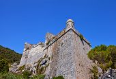 Doria Castle (1161) In Portovenere (unesco Cite), Italy