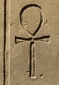 picture of hieroglyphic symbol  - Ancient egypt symbol Ankh  - JPG