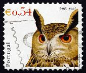 Postage Stamp Portugal 2002 Eurasian Eagle Owl, Bird
