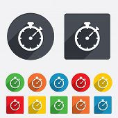 stock photo of stopwatch  - Timer sign icon - JPG
