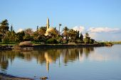 stock photo of larnaca  - Hala Sultan Tekke in Cyprus with water reflections