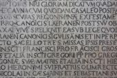 Medieval Latin Catholic Inscription poster
