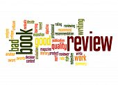 stock photo of exposition  - Book review word cloud image with hi - JPG