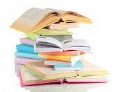 foto of short-story  - Stacks of books isolated on white - JPG
